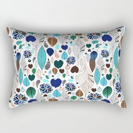 Abstract colorful leaves Rectangular Pillow