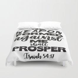 Isaiah 54:17 Duvet Cover