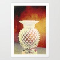 Hobnail -- Still Life with Vintage Vase Art Print