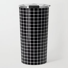 Black and white optical illusion Spots Lines and Squares Travel Mug