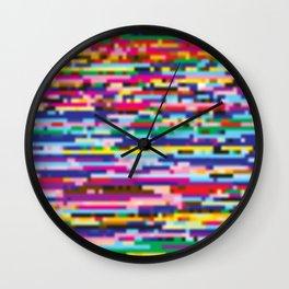 Glitch colorful background Wall Clock