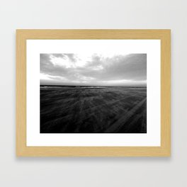 Dark beach Framed Art Print