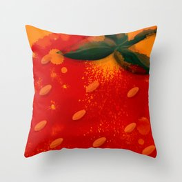 Strawberry No Cream Throw Pillow