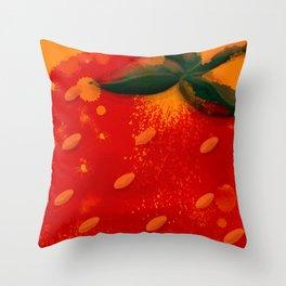 Strawberry No Cream Throw Pillow