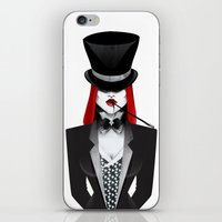 gotham iPhone & iPod Skins featuring Gotham Masquerade by Cristina Stefan
