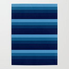 Teal stripes Poster