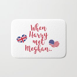When Harry met Meghan | Fun Royal Wedding Bath Mat