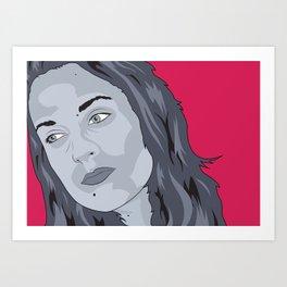 Elsa Pop Zombie Art Print