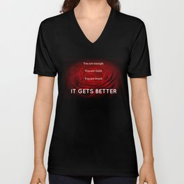 IT GETS BETTER Unisex V-Neck