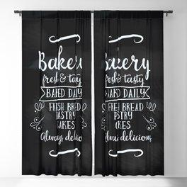 Bakery Chalkboard poster Blackout Curtain