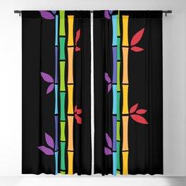 Rainbow Bamboo Blackout Curtain