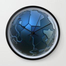 Blue technology ball Wall Clock