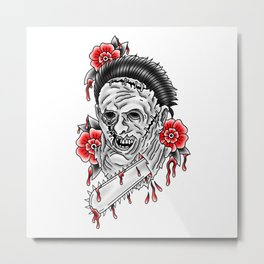 Bloody Leatherface Metal Print