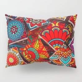 V1 Traditional Moroccan Colored Stones. Pillow Sham