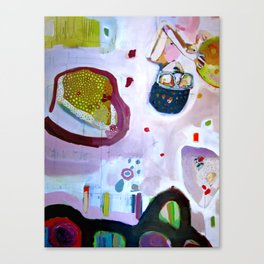 you are what you eat.  so be nice to plants and bees and (therefore) your own self Canvas Print