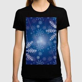Blue Snowflakes Christmas T-shirt