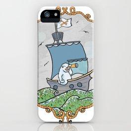 Sailing pirate yeti iPhone Case