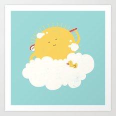 sun-bathing Art Print