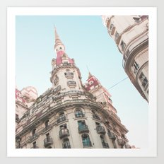 French Sky (Retro and Vintage Urban, architecture photography) Art Print
