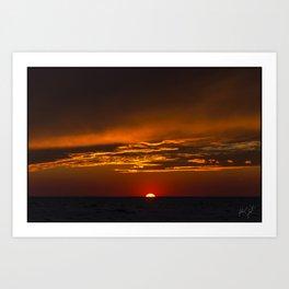 Colington Sunset golden Clouds Art Print