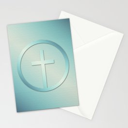 Retro Cross Emblem Graphic Stationery Cards