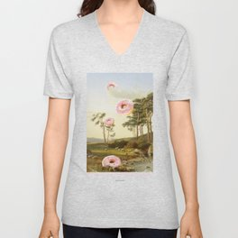 CLOUDY WITH A CHANCE OF DONUTS Unisex V-Neck