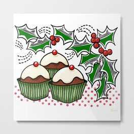 Holly Jolly Holiday Baking Metal Print