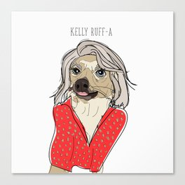 Celebrity Dogs-Kelly Ruff-A Canvas Print
