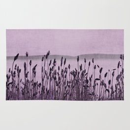 Purple Nature by the sea Rug