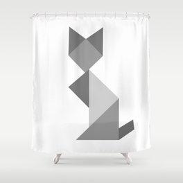 Big Mama Gray Shower Curtain