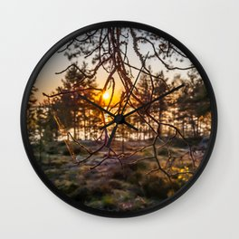Sunset At Summer In Finland Wall Clock