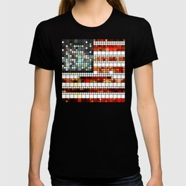 Retro Abstract American Flag T-shirt