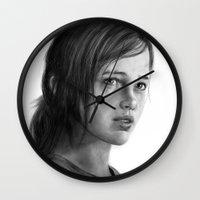 ellie goulding Wall Clocks featuring Ellie by robo3687