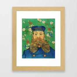 Portrait of Joseph Roulin by Vincent Van Gogh, 1889 Framed Art Print