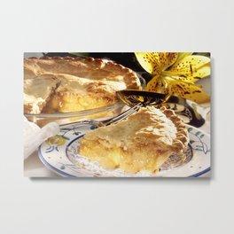 Apple Pie Dessert Metal Print