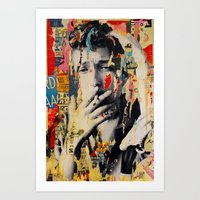 bob dylan Art Prints featuring Bob Dylan by Michiel Folkers