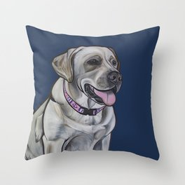 Gracie the Labrador Throw Pillow