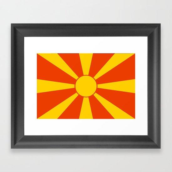Flag of Macedonia Framed Art Print
