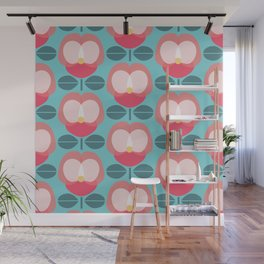 MCM Pink Pansy Wall Mural