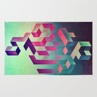 spires Area & Throw Rugs featuring isyhyrtt dyymyndd spyyre by Spires
