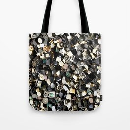Letter Buttons Tote Bag