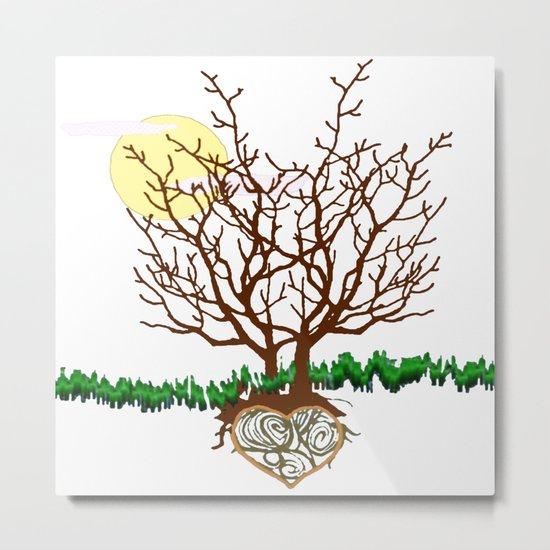 The Loving Tree Metal Print