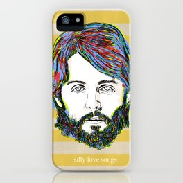 silly love songs iPhone Case