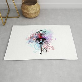 Key with Roses Rug