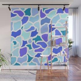 Giraffe in Blue Wall Mural