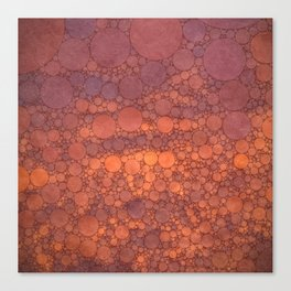 Percolated Sunset in Warm Tones Canvas Print