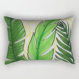 Three Leaves Rectangular Pillow