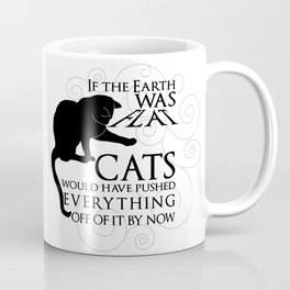 Cats on the Flat Earth Coffee Mug