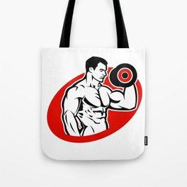 man fitness logo Tote Bag