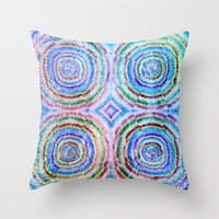 frozen Throw Pillows featuring Frozen by Truly Juel
